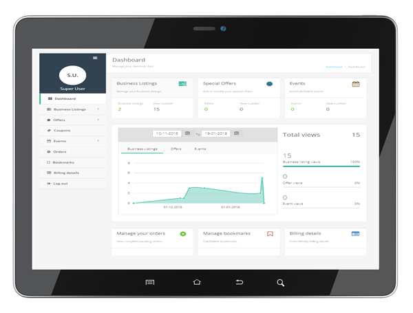 business dashboard portal